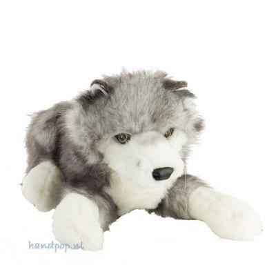 Folkmanis handpop wolf timberwolf