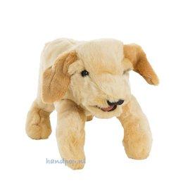Folkmanis handpop hond labrador pup blond