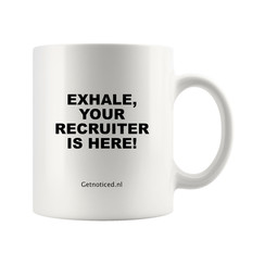 "Mok ""Exhale, your recruiter is here!"""