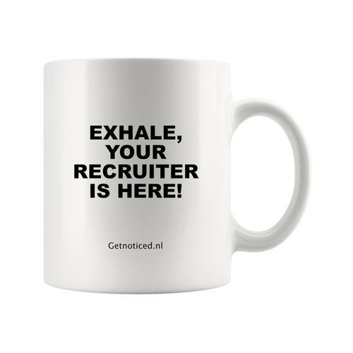 "Getnoticed Mok ""Exhale, your recruiter is here!"""