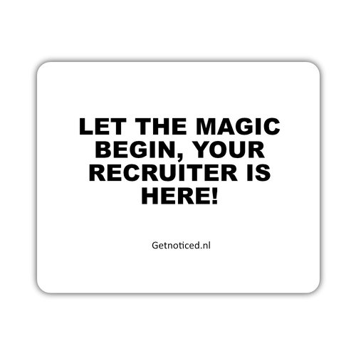 "Getnoticed Muismat: ""Let the magic begin, your recruiter is here!"""