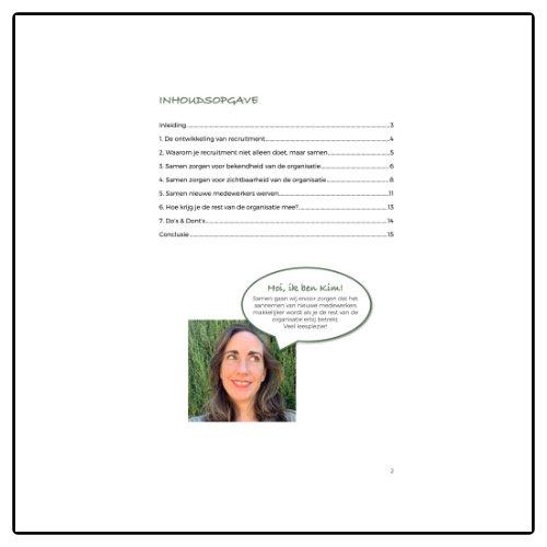 Werkimago Ebook: Recruitment doe je niet alleen, dat doe je samen