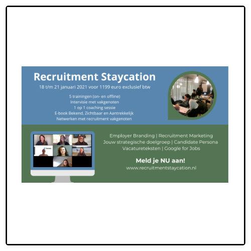 Werkimago Recruitment Staycation - Employer Branding en Recruitment Marketing