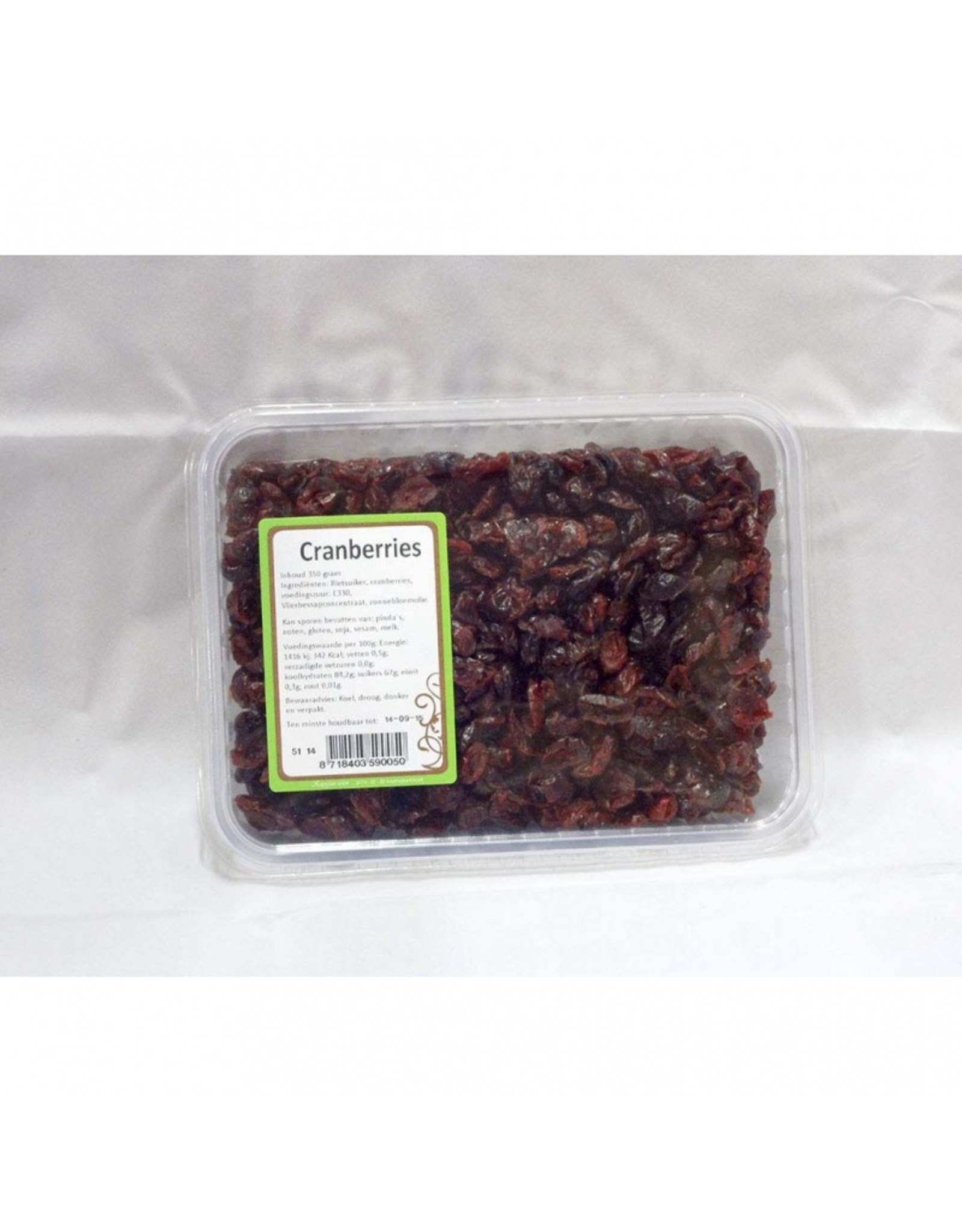 Doosje cranberries 350 gram