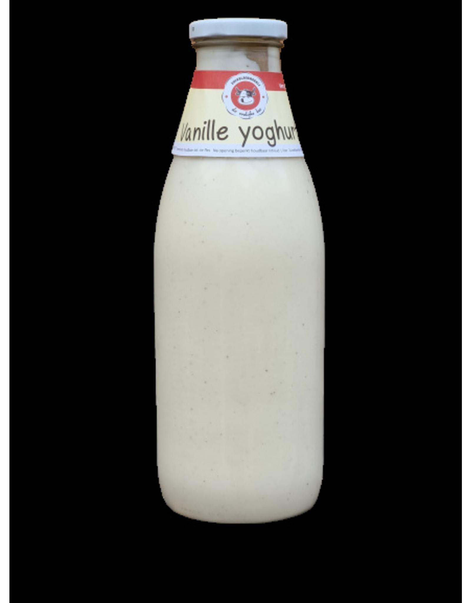 De vrolijke koe Vanille Yoghurt 1 ltr.