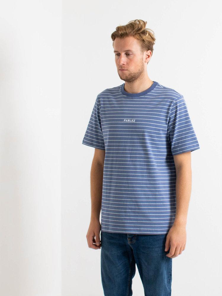PARLEZ PARLEZ Ladsun Stripe T-Shirt Dusty Blue