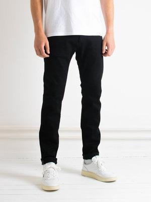 Edwin Jeans Edwin Jeans Slim Tapered Kaihara Selvage Black x Black Stretch Black Dark Used