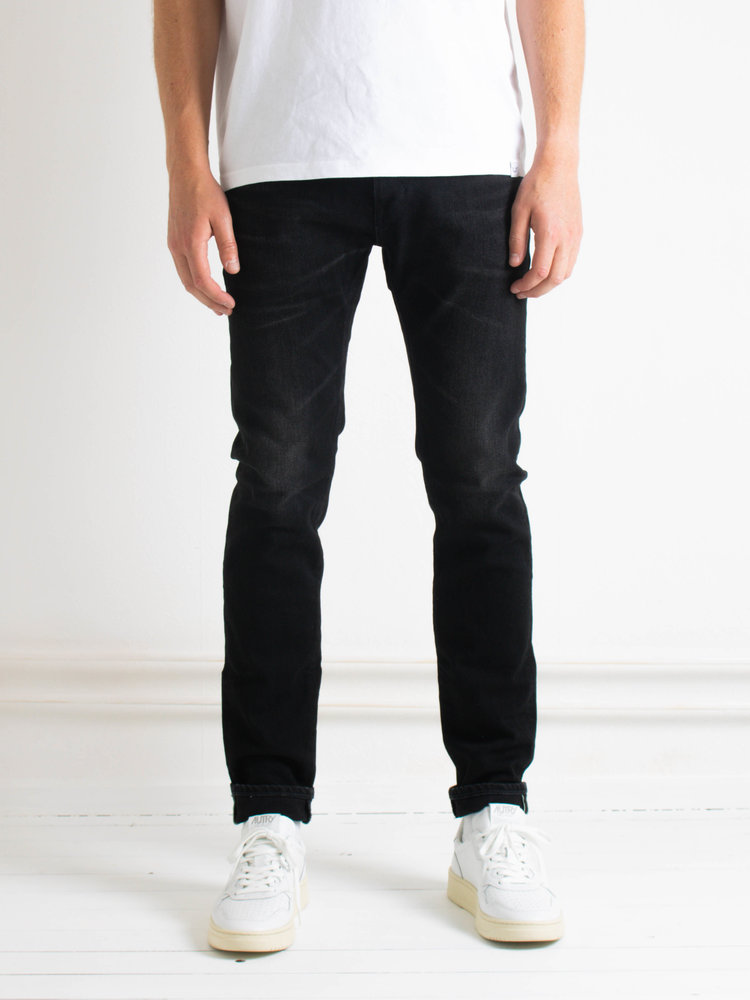 Edwin Jeans Edwin Jeans Slim Tapered Kaihara Selvage Black x Black Stretch Black Rinsed