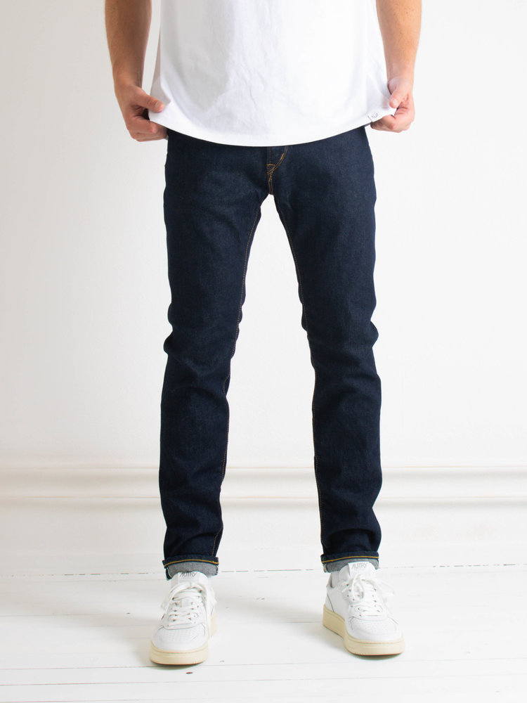Edwin Jeans Edwin Jeans Slim Tapered Kaihara Selvage Blue Stretch Denim Blue Rinsed