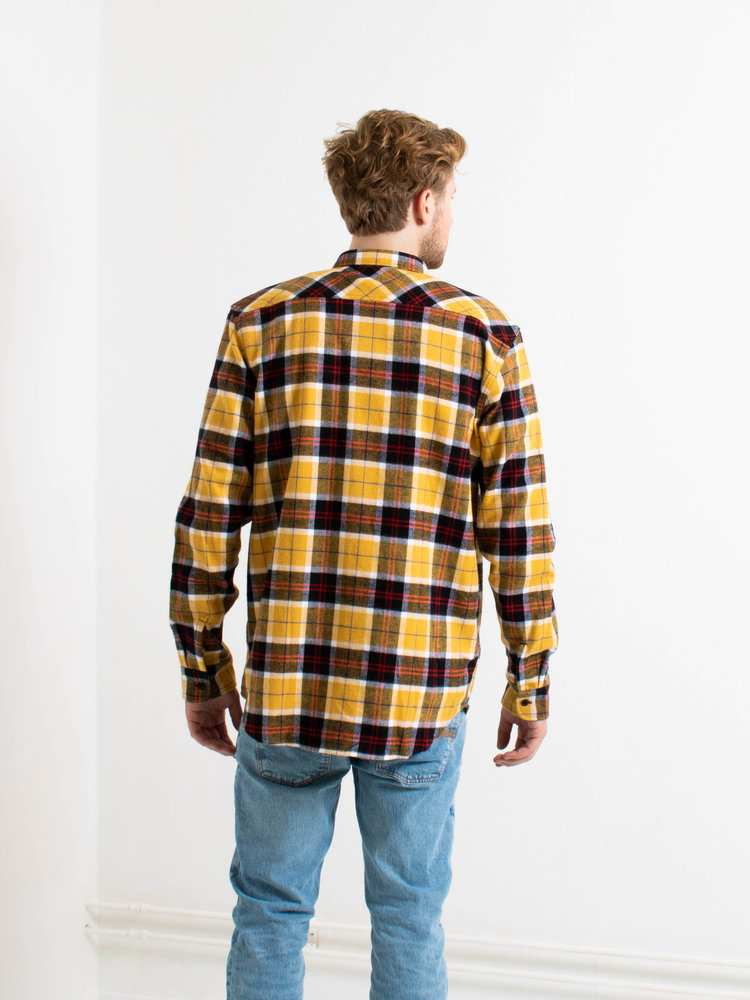 Edwin Jeans Edwin Jeans Labour Shirt Heavy Brushed Cotton Yellow/Black Washed