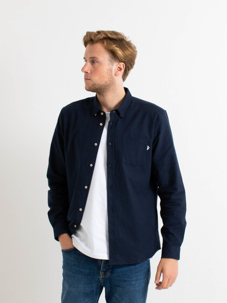 Law Of The Sea Law Of The Sea Anchor Shirt Flannel Navy