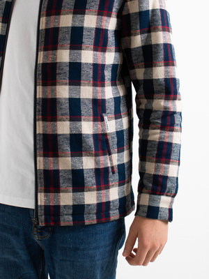 Law Of The Sea Law Of The Sea Polar Overshirt Zip Check Multi