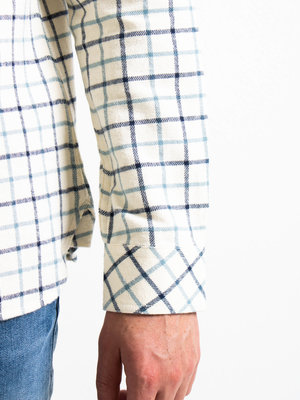 Knowledge Cotton Apparel Knowledge Cotton Apparel Larch Big Check Flannel Shirt Winter White