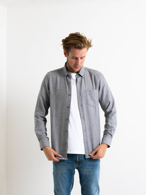 Castart Castart Bacon Flannel Shirt Middle Grey