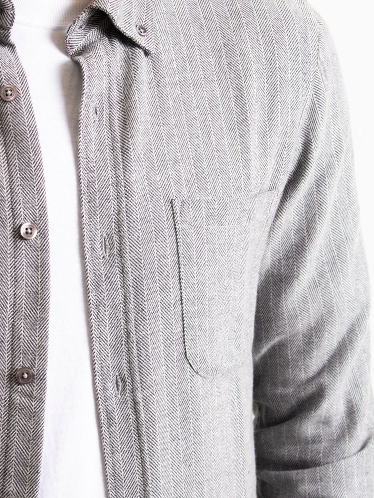 Castart Castart Bacon Flannel Shirt Middle Grey