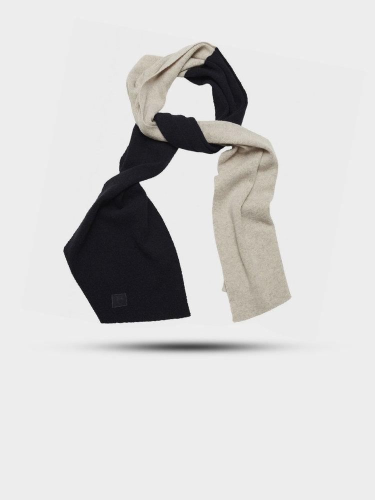 Knowledge Cotton Apparel Juniper Organic Wool Scarf Total Eclipse