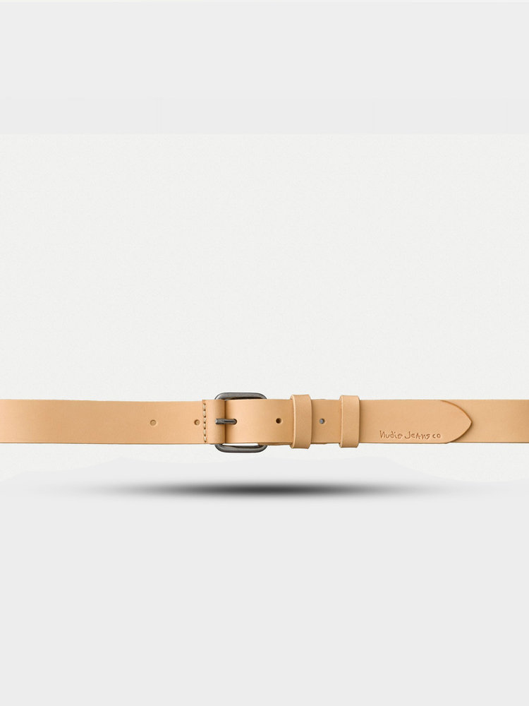 Nudie Jeans Nudie Jeans Dwayne Leather Belt Natural