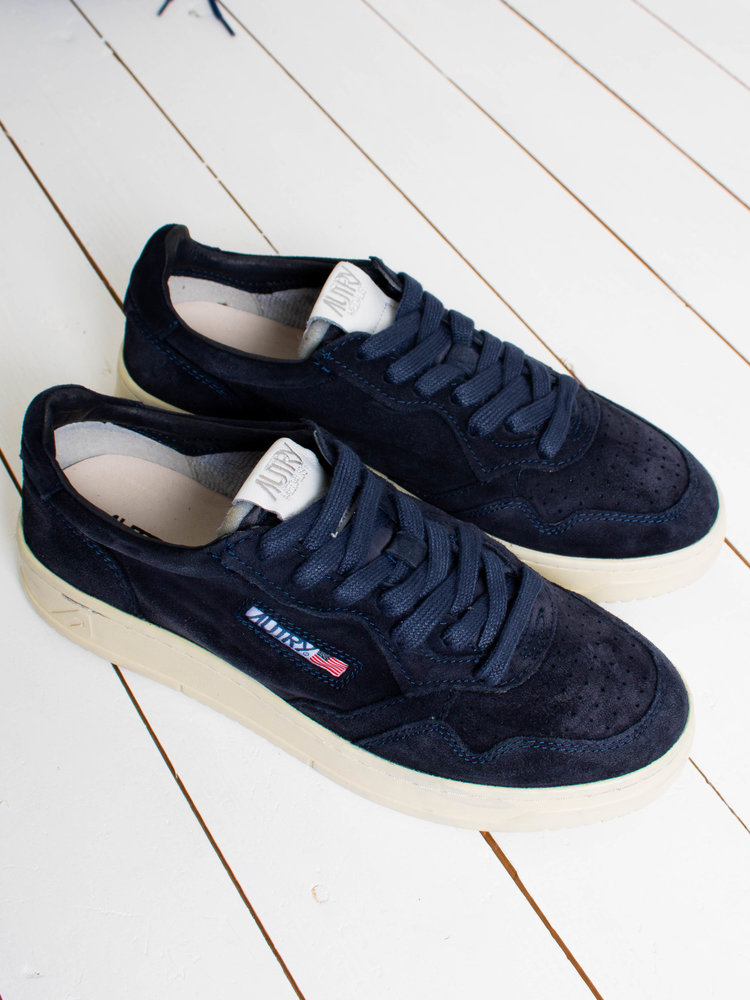 Autry Action Shoes Autry Action Shoes Medalist 01 Low Suede/Suede Navy
