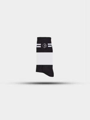 Polar Skate Co. Polar Skate Co. Stroke Logo Socks Black/White