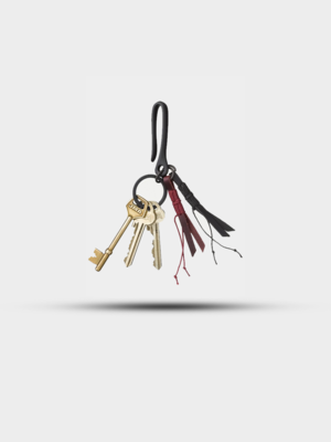Nudie Jeans Nudie Jeans Ray Keyring Hook And Tail Black
