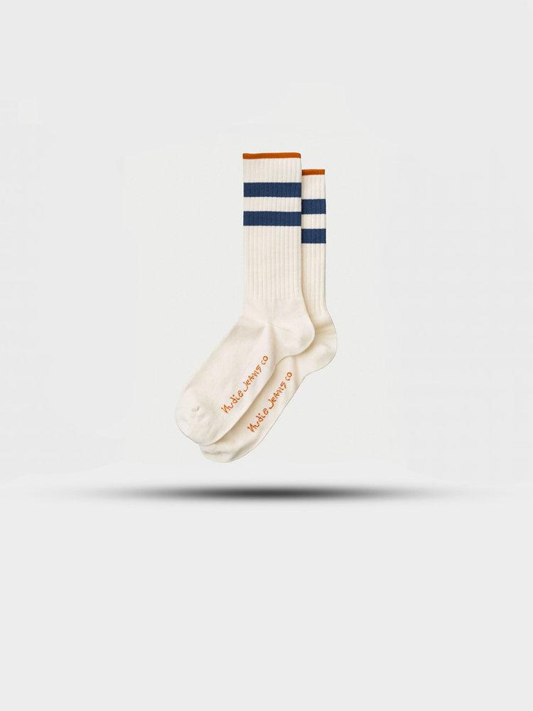 Nudie Jeans Nudie Jeans Amundsson Sport Socks White/Navy
