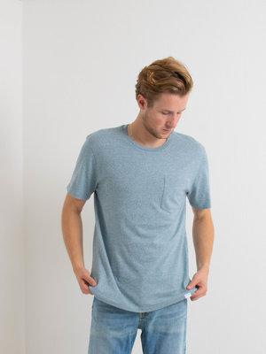 Samsøe Samsøe Samsøe Samsøe Carpo t-shirt mel Real Teal Melange