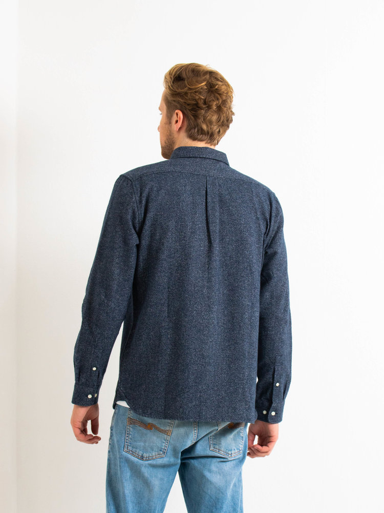 Knowledge Cotton Apparel Larch Brushed Shirt Total Eclipse
