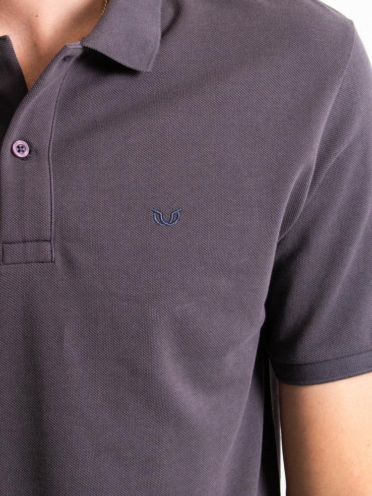 STUEN.Label STUEN.Basic Polo Dark Grey