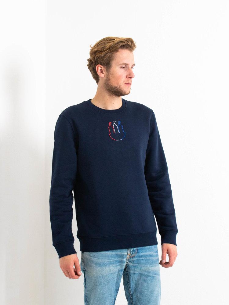 STUEN.Label STUEN.Sweater Tricolores Navy