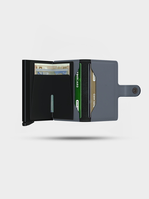SECRID SECRID Miniwallet Matte Grey/Black