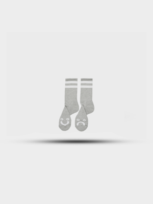 Polar Skate Co. Polar Happy Sad Socks Heather Grey