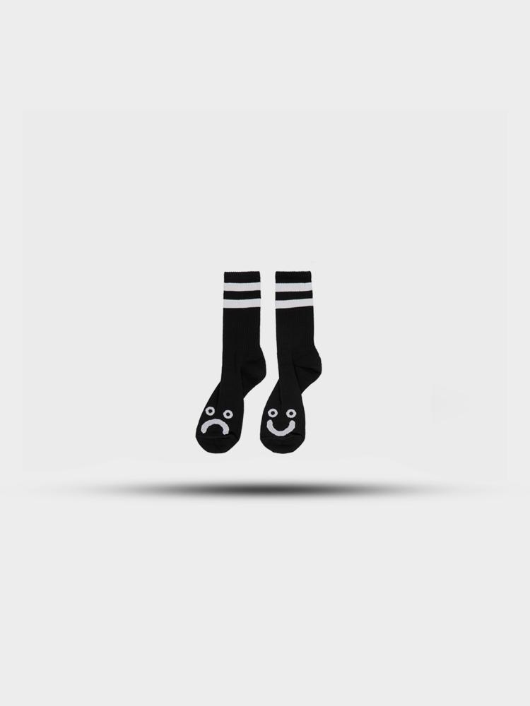 Polar Skate Co. Polar Happy Sad Socks Black