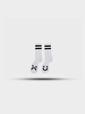 Polar Skate Co. Polar Happy Sad Socks White