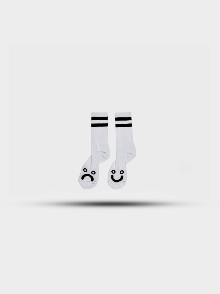 Polar Skate Co. Polar Happy Sad Socks White