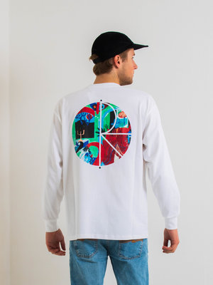 Polar Skate Co. Polar Moth House Fill Logo Longsleeve White