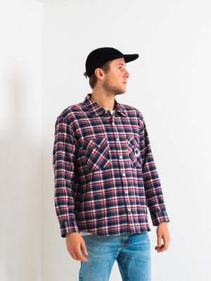 Polar Skate Co. Polar Flannel Shirt Navy/Red