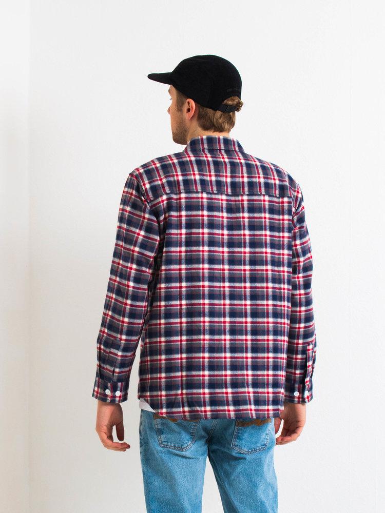 Polar Skate Co. Polar Flannel Shirt Navy/Red