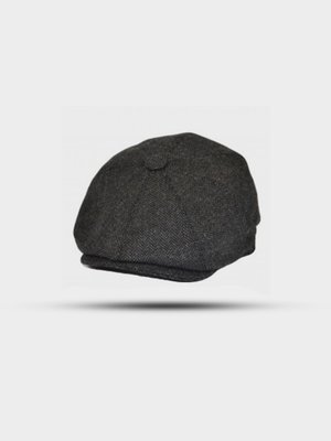 The Great Horse The Great Horse Newsboy Cap Herringbone Dark Grey