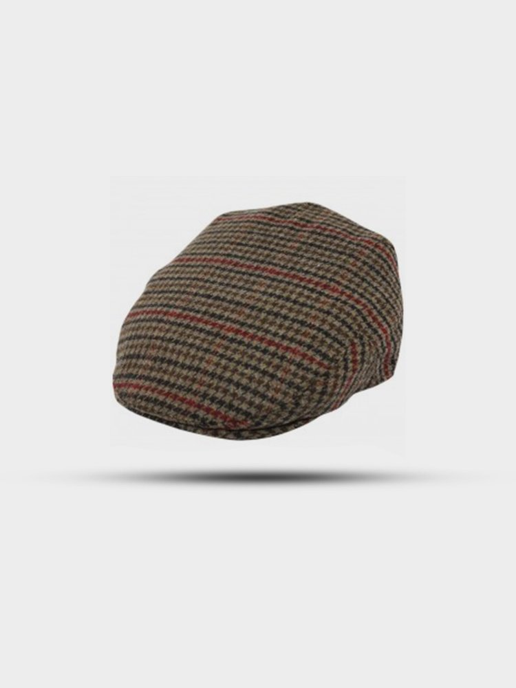 The Great Horse The Great Horse Tweed Flat Cap Brown