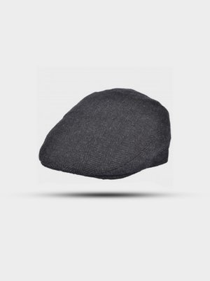 The Great Horse The Great Horse Herringbone Flat Cap Dark Grey