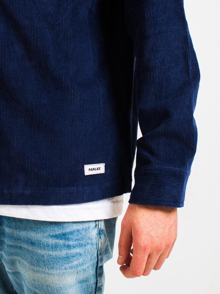 PARLEZ Wilson Cord Overshirt Navy