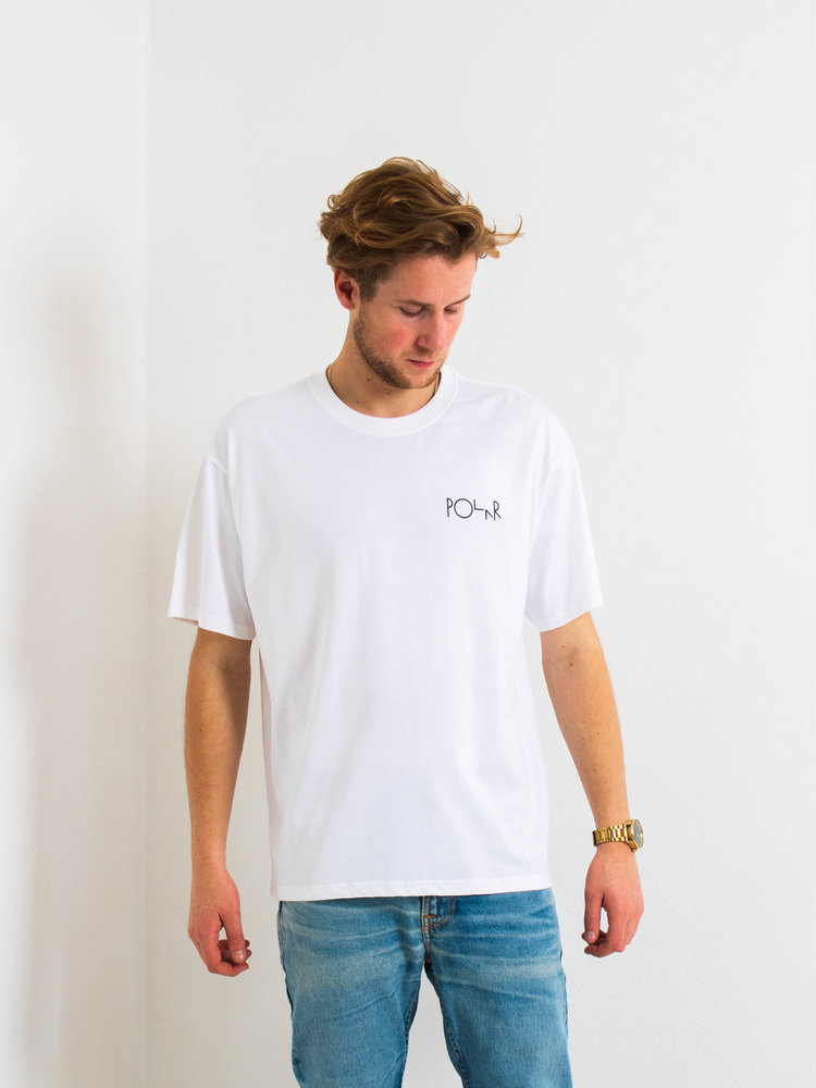 Polar Skate Co. Polar ACAB Fill Logo T-Shirt White