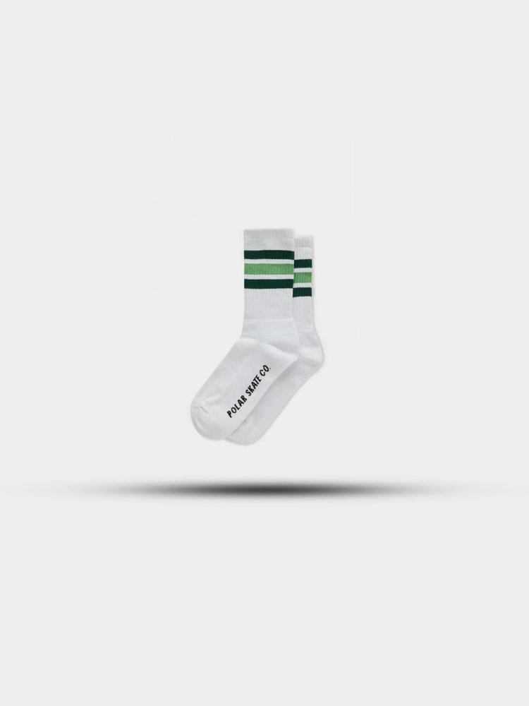 Polar Skate Co. Stripe Socks White/Green