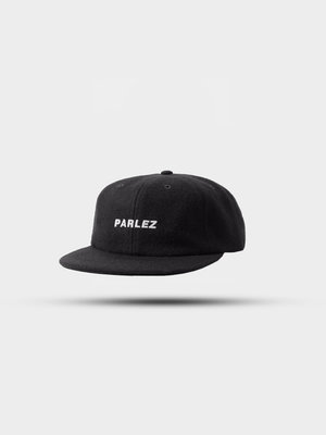 PARLEZ Ladsun Wool 6 Panel Cap Black