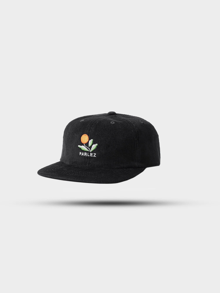 PARLEZ Kojo Cord 6 Panel Cap Black
