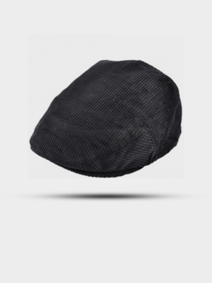 The Great Horse The Great Horse Corduroy Flat Cap Black