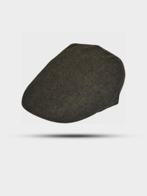 The Great Horse The Great Horse Herringbone Flat Cap Dark Green