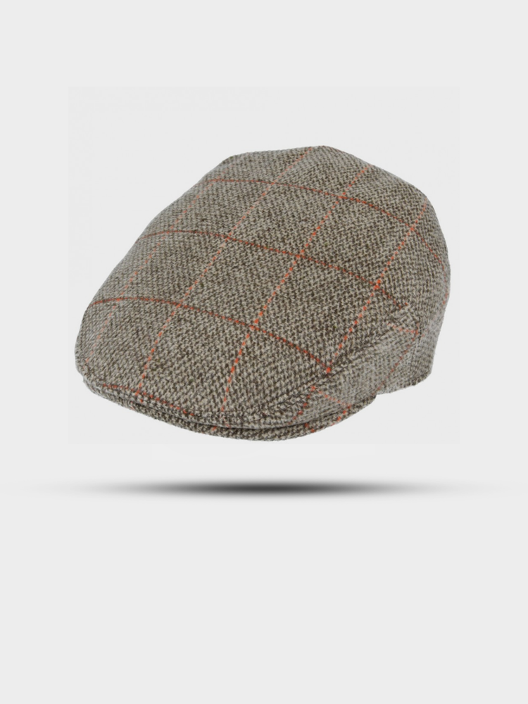 The Great Horse The Great Horse Flat Cap Wool Check Brown