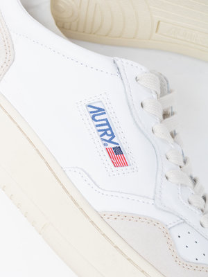 Autry Action Shoes Autry Action Shoes Medalist 01 Low Leather/Suede White/White