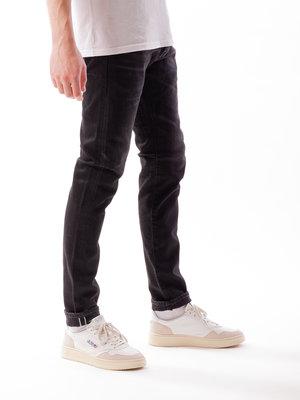 Edwin Jeans Slim Tapered Kaihara Selvage Black x Black Stretch Black Mid Used
